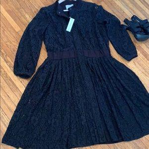 NWT black lace dress.